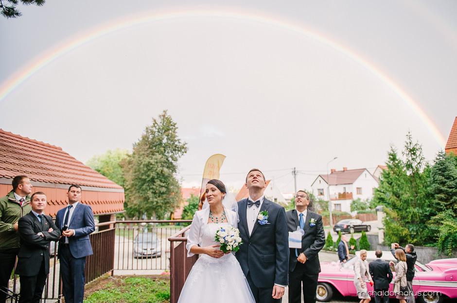 Tęcza po ślubie
